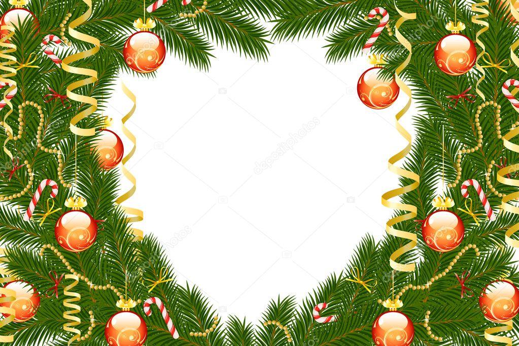 Christmas fir tree frame — Stock Vector © -=WaD=- #4358653