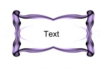 Abstract purple frame with spase for text