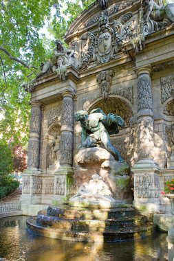 France. Paris. the Medici Fountain (La fontaine Medicis) in Luxembourg Gard