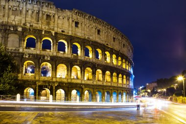 Italy. Rome. The night Collosseo