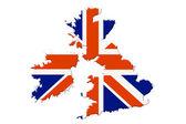 az Egyesült Királyságban. Térkép és a zászló