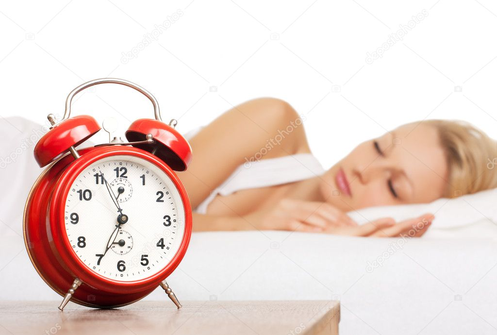Asleep woman