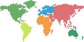 διάνυσμα παγκόσμιο χάρτη