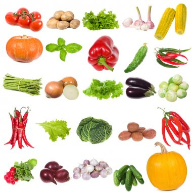 Set with vegetables