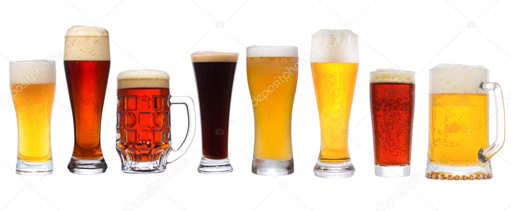 Set with different beer