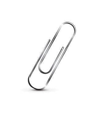 Realistic metal paper clip