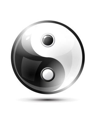 Ying yang symbol of harmony and balance clip art vector