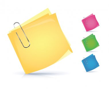 Colorful notice papers