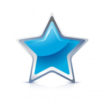 Blue star icon