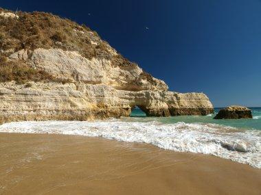 A section of the idyllic Praia de Rocha beach