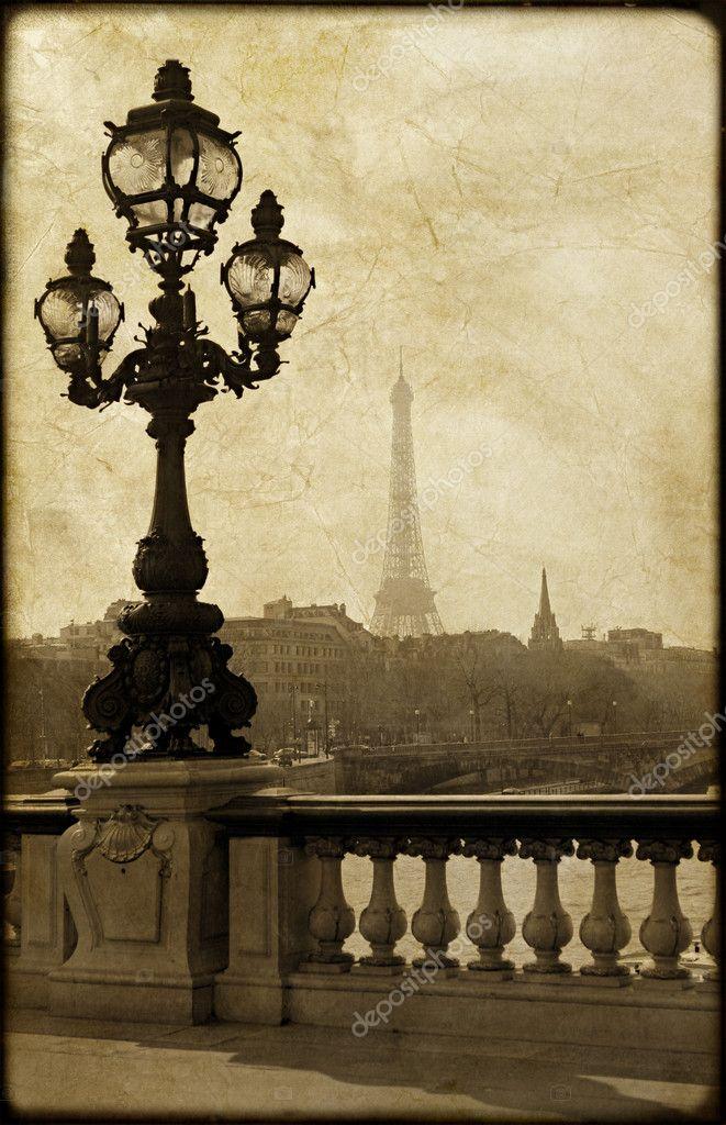 Lamppost on the bridge of Alexandre III in Paris, France