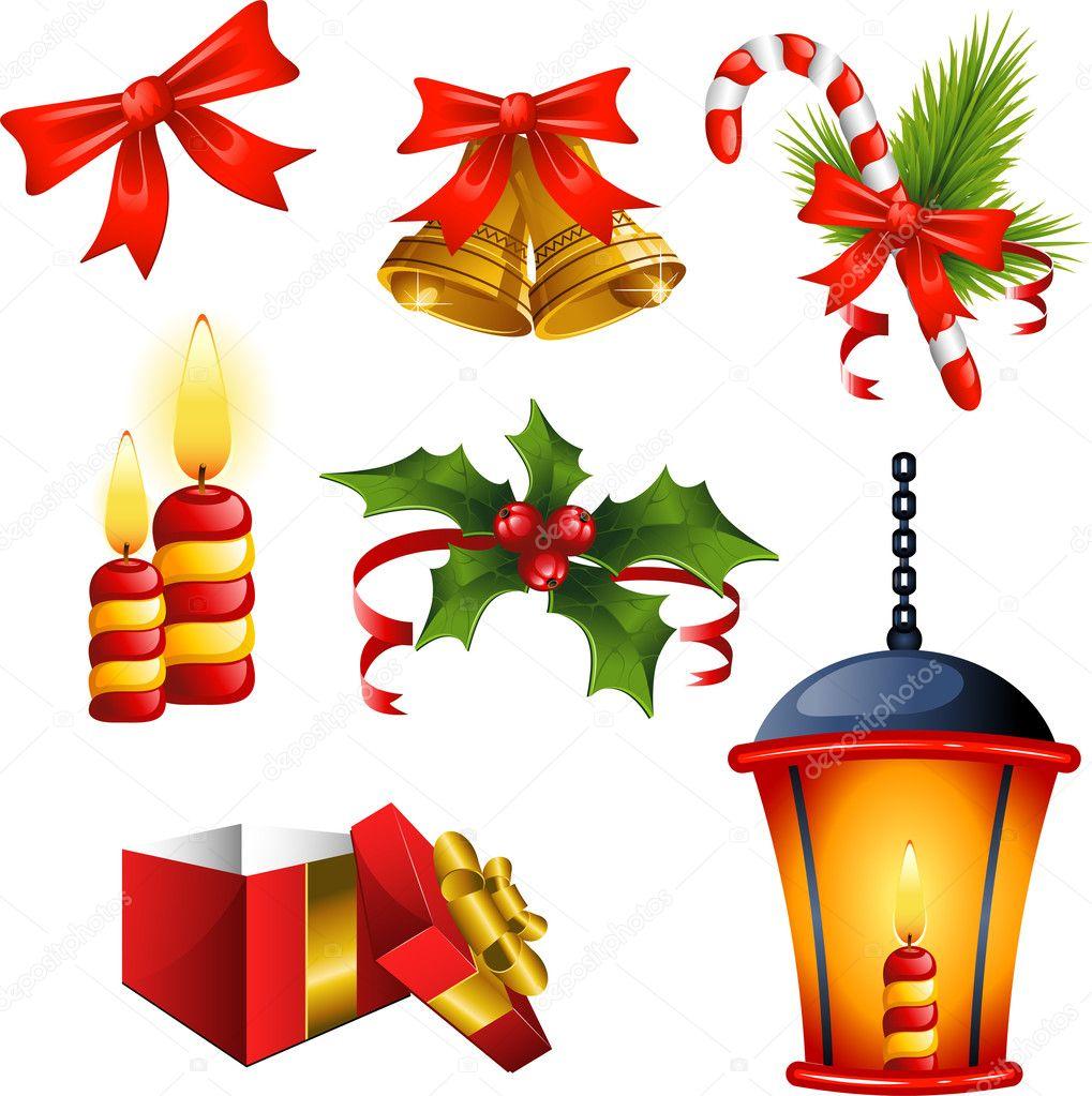 Christmas Tree Decoration Elements: Stock Vector © Jara3000 #4104225
