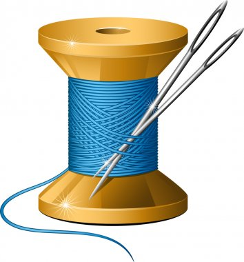 Spool of thread and needles