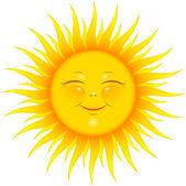 usmívající se slunce