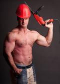 Fotografie muskulöse Bauarbeiter