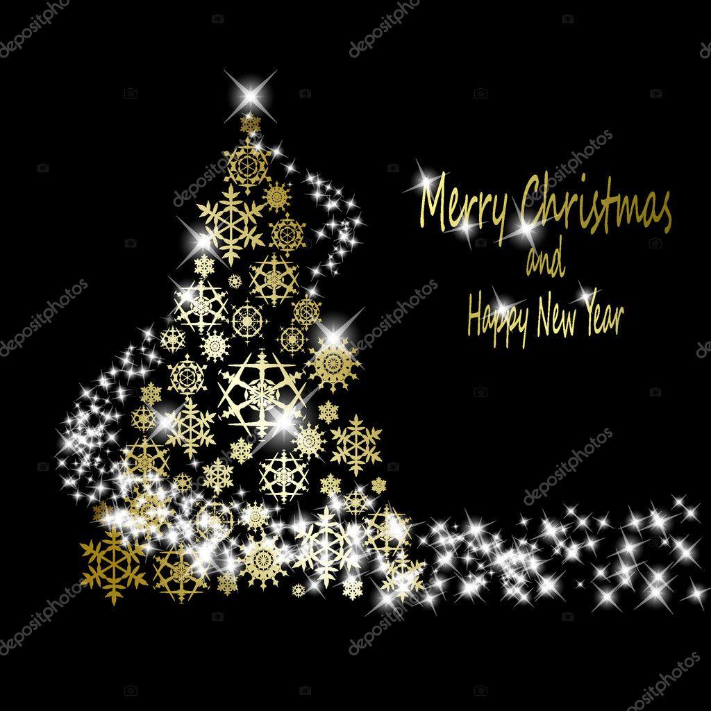 Rbol de navidad dorado de oro copos de nieve con - Arboles de navidad dorados ...