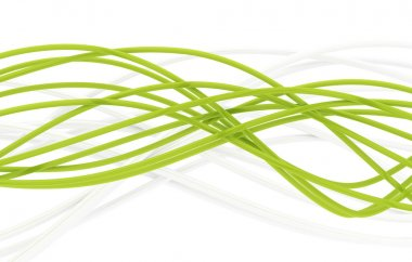 Fibre-optical green and metal silvered cables