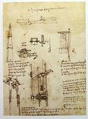 Photo Leonardos Da Vinci engineering drawing