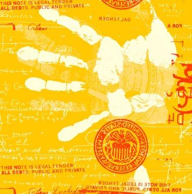 Hand Print with mathematics