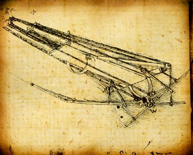 Leonardo's Da Vinci engineering & Anatomy drawing