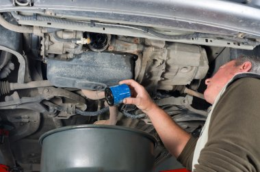 Changing oil filter