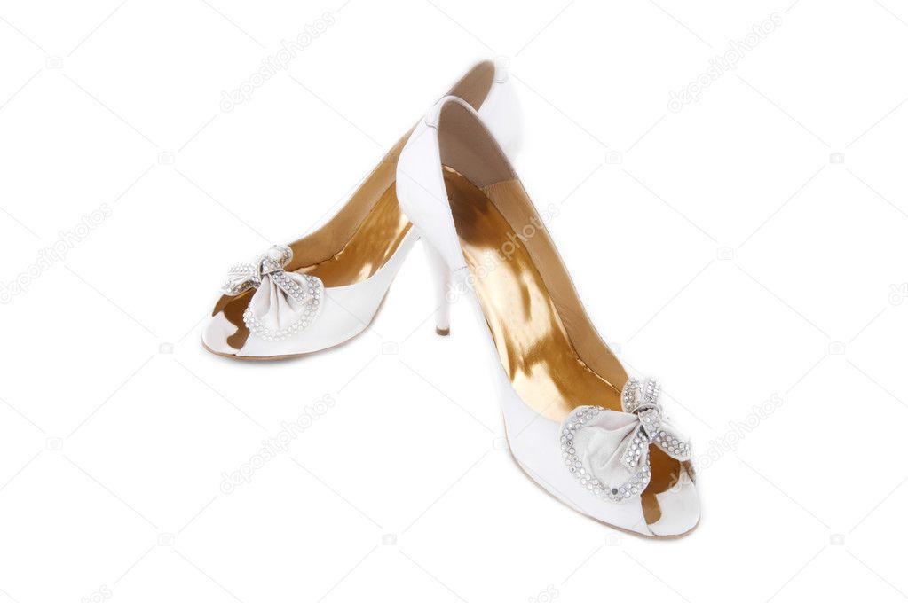 a05656d81b5 ζευγάρι παπούτσια λευκό γάμο — Φωτογραφία Αρχείου © Angel_a #3956480