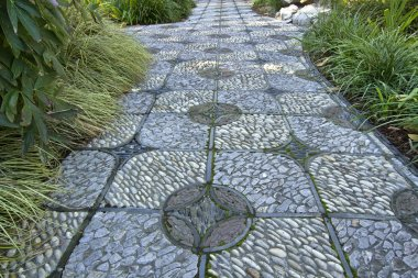 Stone Path in Chinese Garden