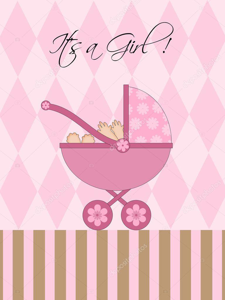 es ist ein m dchen rosa baby kinderwagen stockfoto davidgn 4933509. Black Bedroom Furniture Sets. Home Design Ideas