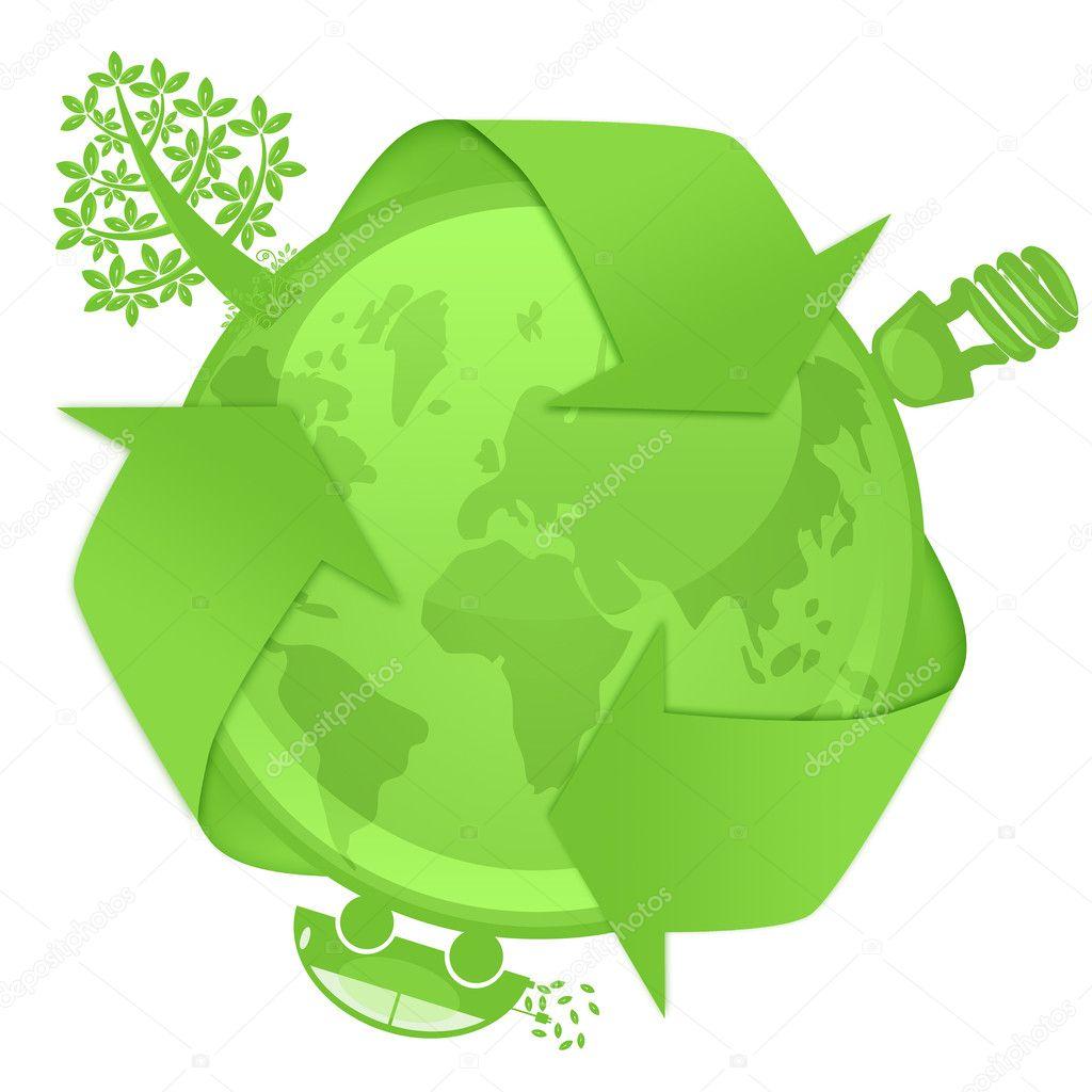 Eco Globe with Tree Energy Bulb Hybrid Car