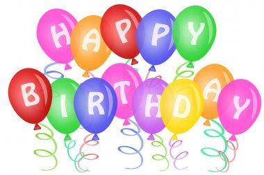 Happy Birthday Text on Balloons