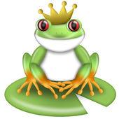 Principe rana dagli occhi rossi verdi con corona