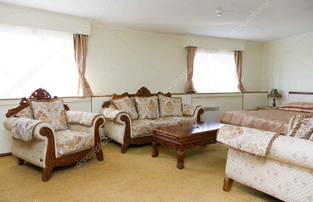 intérieur de la chambre d\'hôtel de luxe — Photographie Firststar ...