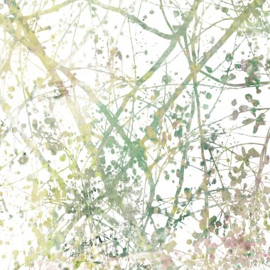 Tangled Blossom Branches Art Abstract