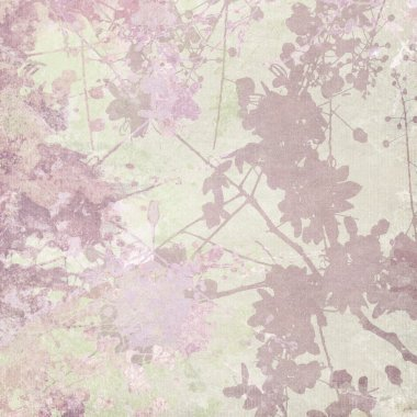 Flower Silhouette Print on Pastel Background