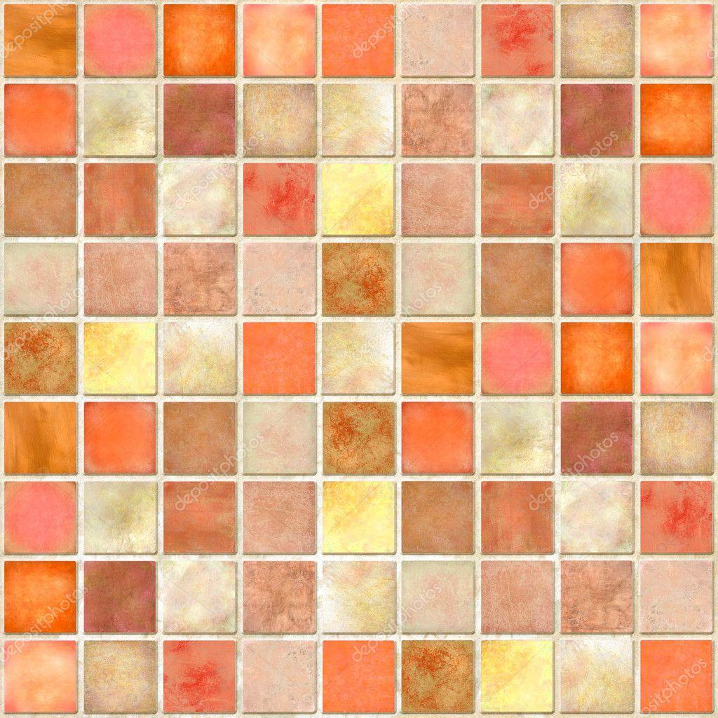 Orange Tile Mosaic