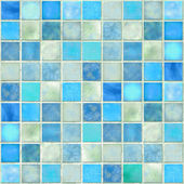 Fotografie modré dlaždice mozaika