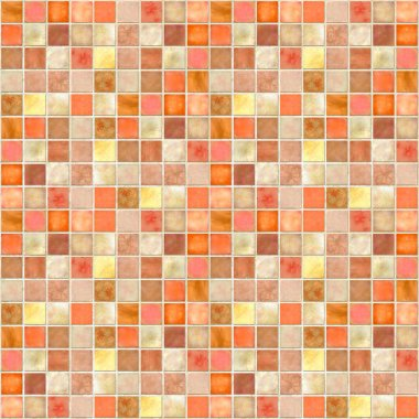Orange Tile Mosaic