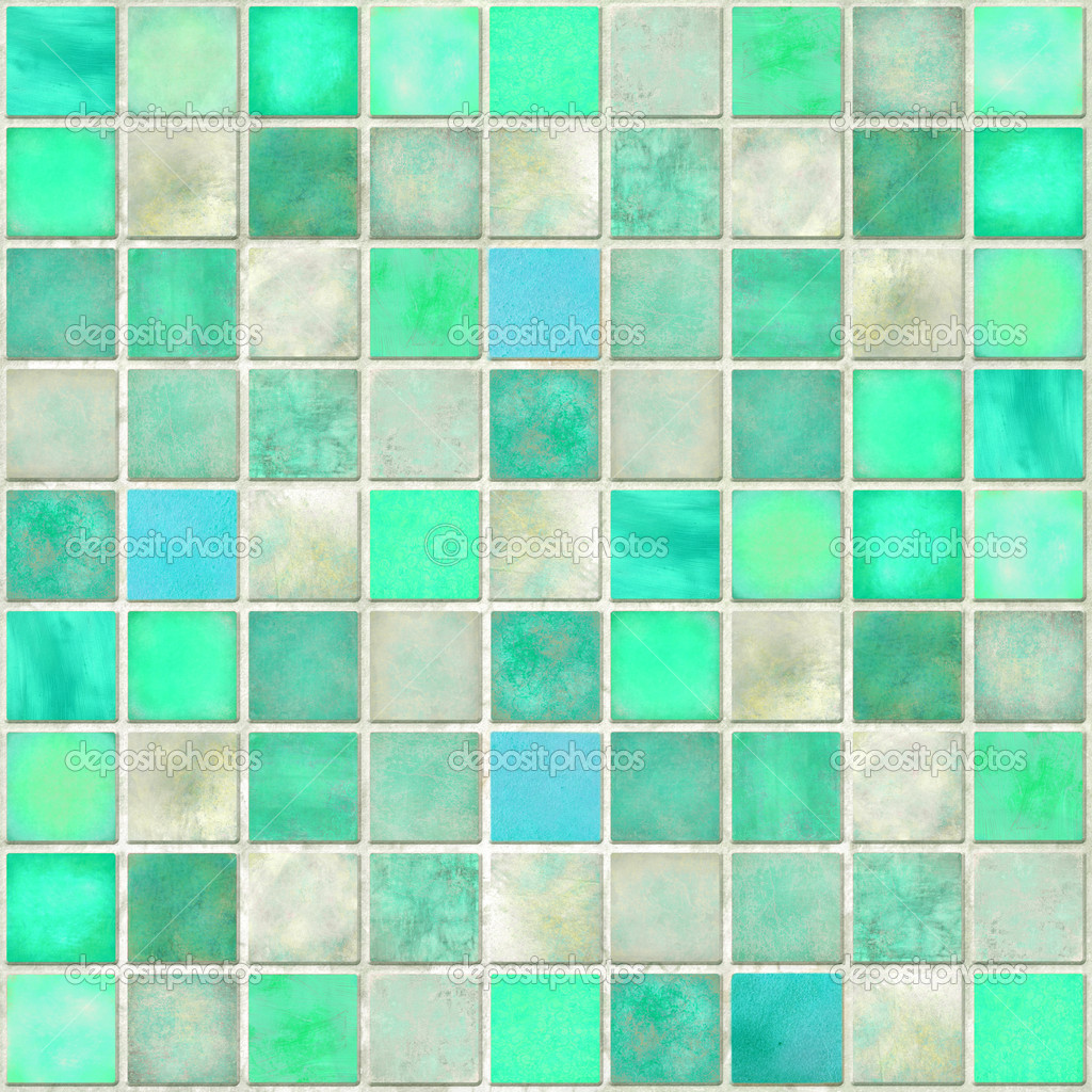 Aquamarin Fliesen Mosaik — Stockfoto © luceluceluce #4973736