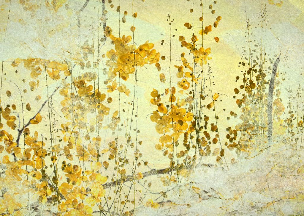 Yellow Flower Grunge Art Background