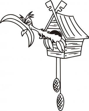 Cuckoo in the clock.
