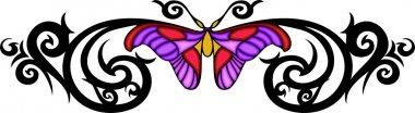 Tribal butterfly tattoo.