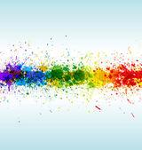 Fotografia schizzi di vernice di colore. sfondo vettoriale gradiente