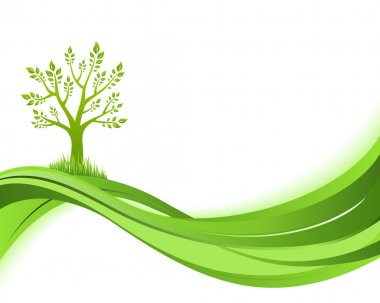 Green nature background. Eco concept illustration