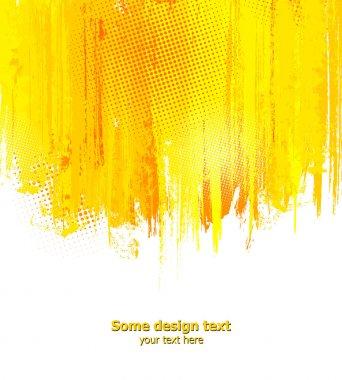 Orange abstract paint splashes illustration. Vector