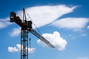 Construction crane stock vector