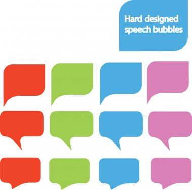 Designed speech bubbles