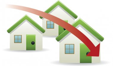 House prices trend down