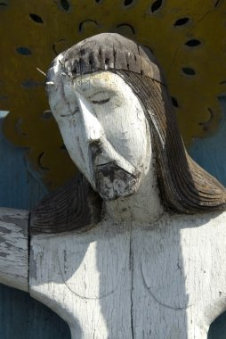 Old sculpture of Jesus Christ on a cemetry