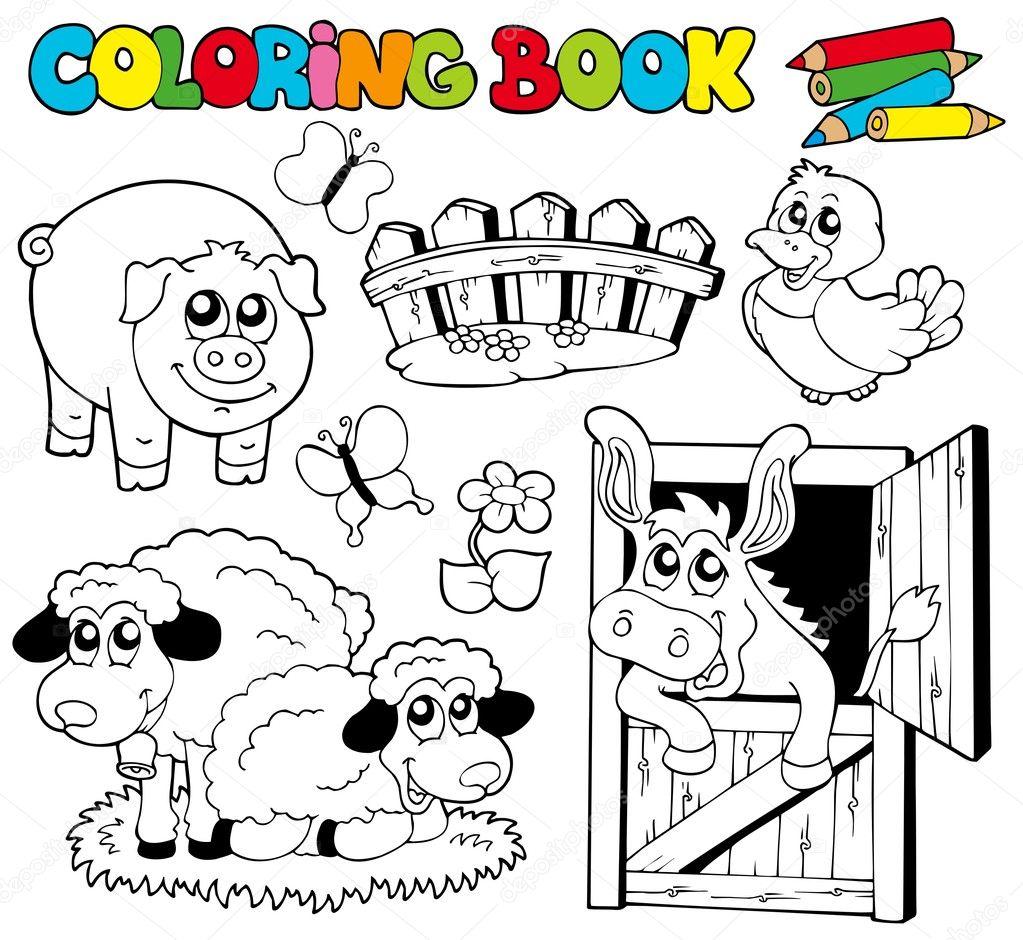 coloring book farm animals