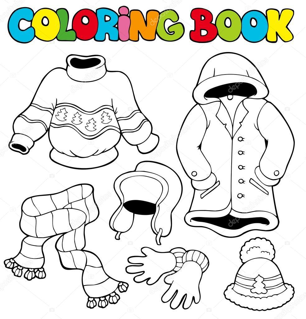 раскраски зимняя одежда книжка раскраска с зимней одежды
